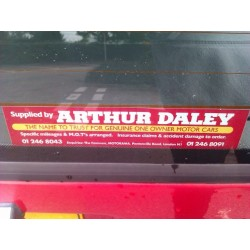 Arthur Daley Motorama Replica Bumper Sticker