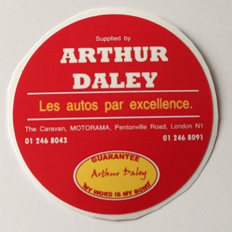 Arthur Daley Motorama Replica Circular Bumper Sticker