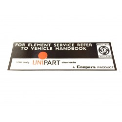 UNIPART Air Filter Box Sticker LMG1015 UAFBS1