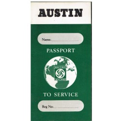 British Leyland Austin Replica Passport to Service Book