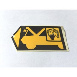 MGF Engine Cover Warning Label