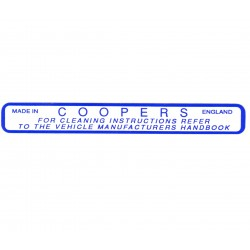Coopers Air Filter Box Sticker LMG1030 CAFBS1 ST121 X2