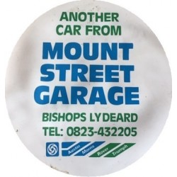 Mount Street Garage Austin Morris Rover Triumph Bishops Lydeard Replica Tax Disc Holder