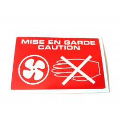Radiator Warning Sticker - MISE EN GARDE CAUTION