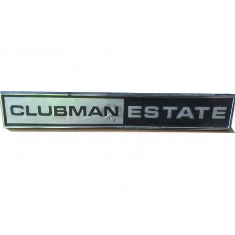 Mini Clubman Estate Tailgate Badge