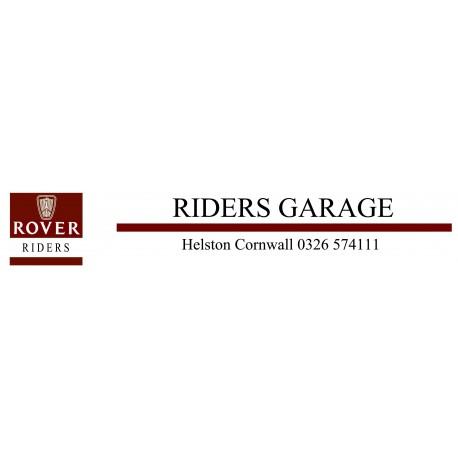 Riders Garage Helston Cornwall Rover Replica Dealer Sticker