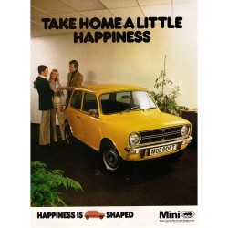 Take Home A Little Happiness Mini Clubman Canvas Wall Art