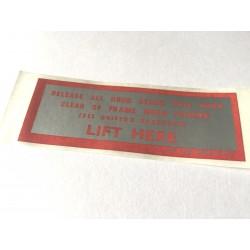 MGB & MGC Hood Stowage Instruction Label