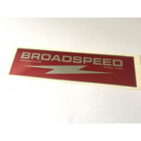 BROADSPEED Rocker Cover Sticker (Large)