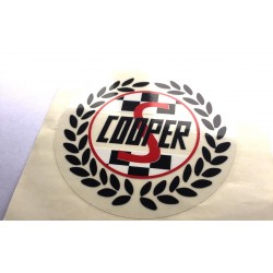Rover Mini Cooper 'S' Wreath Rear Quarter Stickers (Pair)