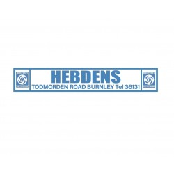 Hebdens Burnley British Leyland Replica Dealer Sticker