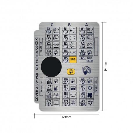 Rover Mini & Cooper Interior Fuse Box Sticker