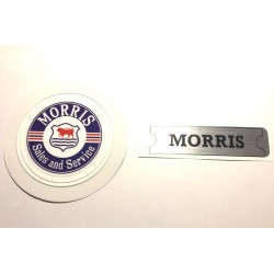 Morris Rocker Cover Sticker and Morris Sales & Services Tax Disc Holder