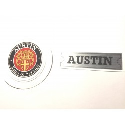 Austin Rocker Cover Sticker and Austin Sales & Services Tax Disc Holder