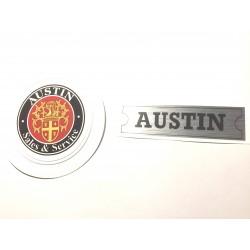 Austin Rocker Cover Sticker and Austin Sales & Services Tax Disc Holder