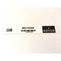 Rover Mini SPi & MPi Ignition Module Sticker MKC104292