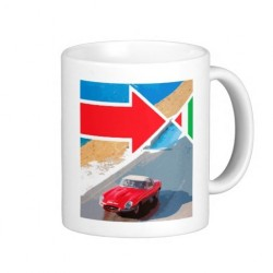 Italian Job Jaguar E-Type Mug