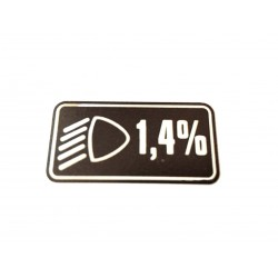 Rover Mini & Cooper Head Light Dip 1.4% Sticker