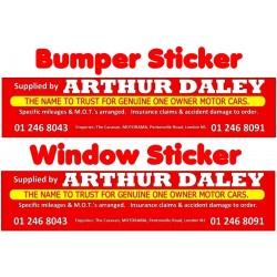 Arthur Daley Motorama Replica Sticker Pack 1