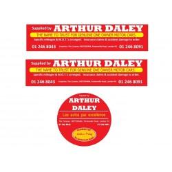 Arthur Daley Motorama Replica Sticker Pack 2
