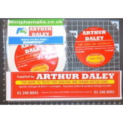 Arthur Daley Motorama Replica Sticker Pack 3
