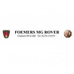 Foemers MG Rover Chatteris Replica Dealer Sticker
