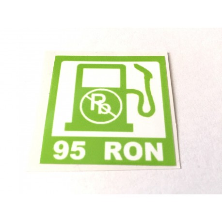 95 RON Petrol Sticker (small type)