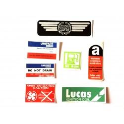 Rover Mini Cooper Carb Model 7 Piece Sticker Pack