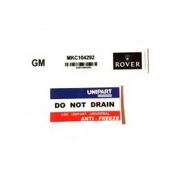 Rover Mini SPi 2 Piece Sticker Pack