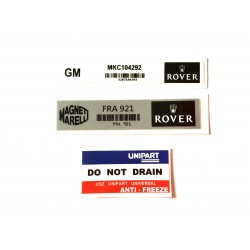 Rover Mini SPi 3 Piece Sticker Pack