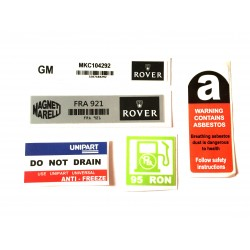 Rover Mini SPi 5 Piece Sticker Pack