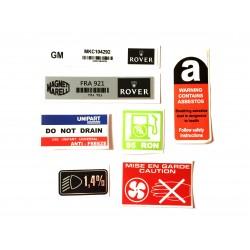 Rover Mini SPi 7 Piece Sticker Pack