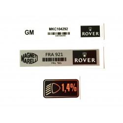 Rover Mini MPi 3 Piece Sticker Pack