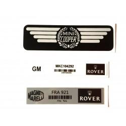 Rover Mini Cooper Mpi 3 Piece Sticker Pack