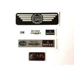 Rover Mini Cooper Mpi 4 Piece Sticker Pack