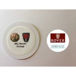 Rover Service Window Sticker and MG Rover Tax Disc Holder