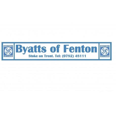Byatts of Fenton - Stoke on Trent Replica British Leyland Dealer Sticker