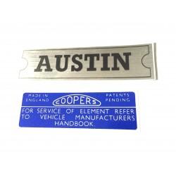 Austin Mini Mk1 & Mk2 850 1000 & Cooper Sticker Pack 1