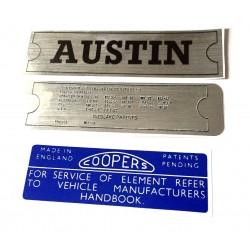 Austin Mini Mk1 & Mk2 850 1000 & Cooper Sticker Pack 2