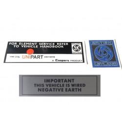 Mini 1275GT Sticker Pack 2