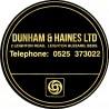 Dunham & Haines Ltd Leighton Buzzard Bedfordshire Replica Dealer Sticker