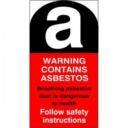 Asbestos Warning Sticker - Replacement for missing item