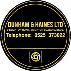Dunham & Haines Ltd Leighton Buzzard Bedfordshire Replica Dealer Tax Disc Holder