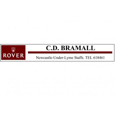 C.D. Brammall Rover Newcaste-Under-Lyme Staffs - Replica Window Sticker