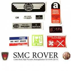 Rover Mini Cooper SPi 8 Piece Sticker Pack & Dealer Sticker
