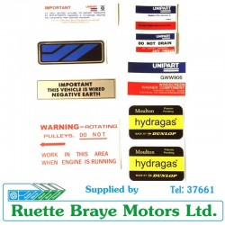 Edit: Austin Allegro Sticker Pack 14 & Dealer Sticker