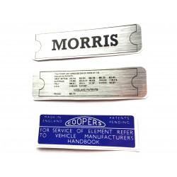 Morris Minor Engine Sticker Bundle 3