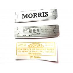 Morris Minor Engine Sticker Bundle 2