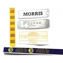 Morris Minor Engine Sticker Bundle 6