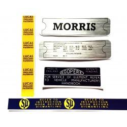 Morris Minor Engine Sticker Bundle 7